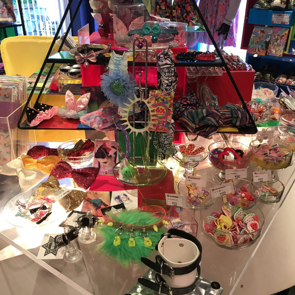 At the center of shop, there's some more DEVILISH accesories at 6% DOKIDOKI in Harajuku, Tokyo