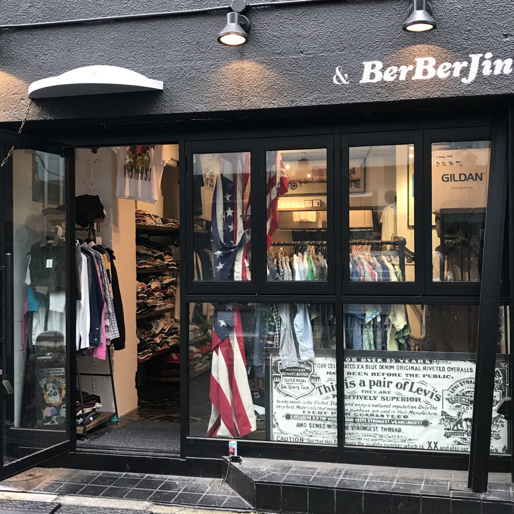 BerBerJin, one of popular used & vintage clothes in Harajuku, Tokyo.