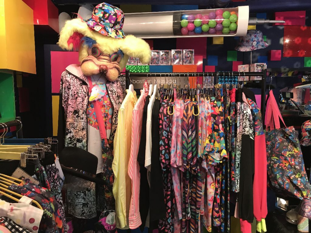 Colorful Clothese - T-shirts, Neon-colored shirts etc. at 6% DOKIDOKI in Harajuku, Tokyo.