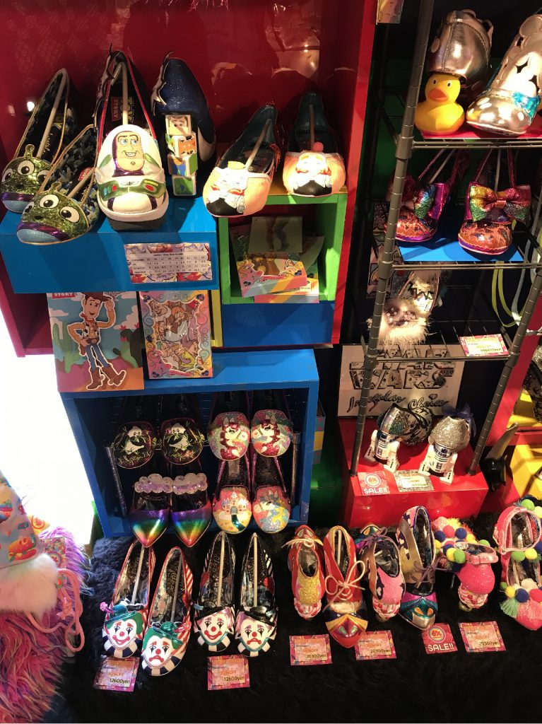 Unique shoes designed by Dan Sullivan, Irregular Choice at 6% DOKIDOKI, Harajuku Tokyo