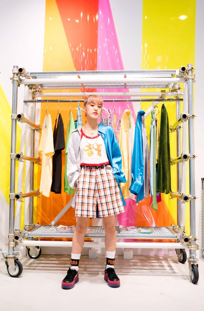 rikarin with Scǎi tokyo clothes